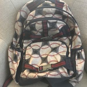 Pottery Barn Kids Mackenzie Backpack in Baseball